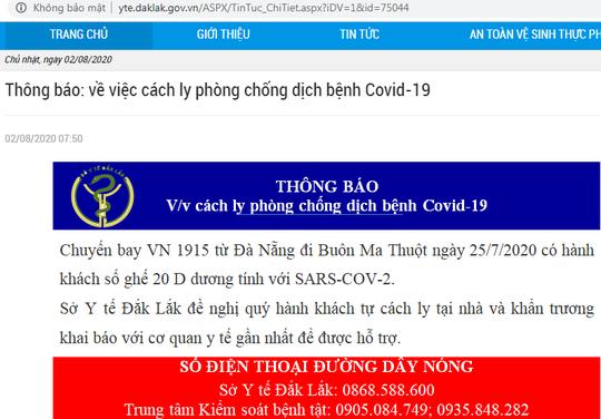 Khẩn: Hành khách trên chuyến bay từ Đà Nẵng về Buôn Ma Thuột dưới đây liên hệ ngay cơ quan y tế - Ảnh 1.