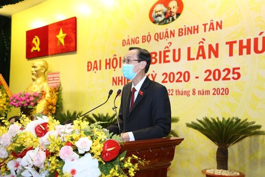 Đại hội Đại biểu Đảng bộ quận Bình Tân đề ra nhiều mục tiêu cho nhiệm kỳ mới - Ảnh 2.