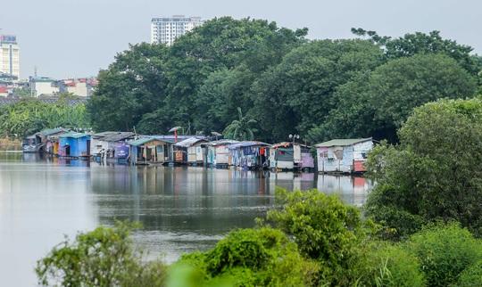 CLIP: Lạ lẫm bãi giữa sông Hồng những ngày nước ngập - Ảnh 3.