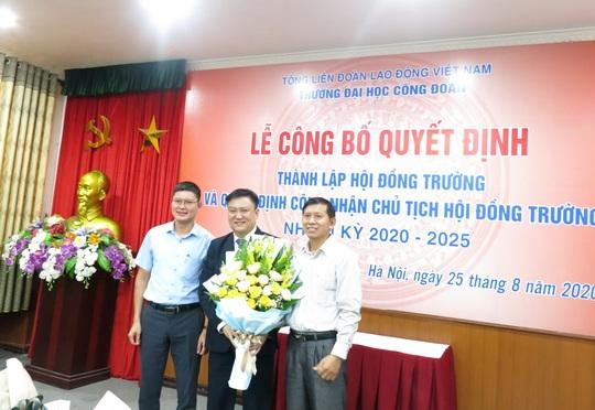 Công bố quyết định thành lập Hội đồng trường Trường Đại học Công đoàn - Ảnh 3.