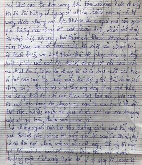 Lay động lá thư cảm ơn của 97 công dân về từ vùng dịch - Ảnh 4.