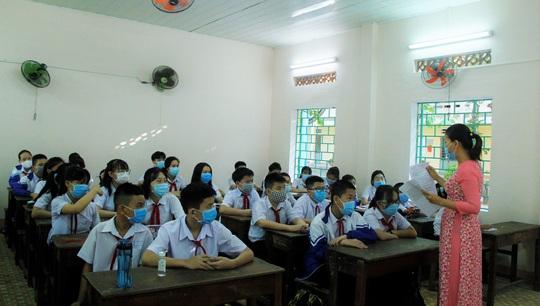 """Đà Nẵng: Học sinh mang thông điệp """"5K"""" đến trường, sau 1 tuần học trực tuyến - Ảnh 5."""
