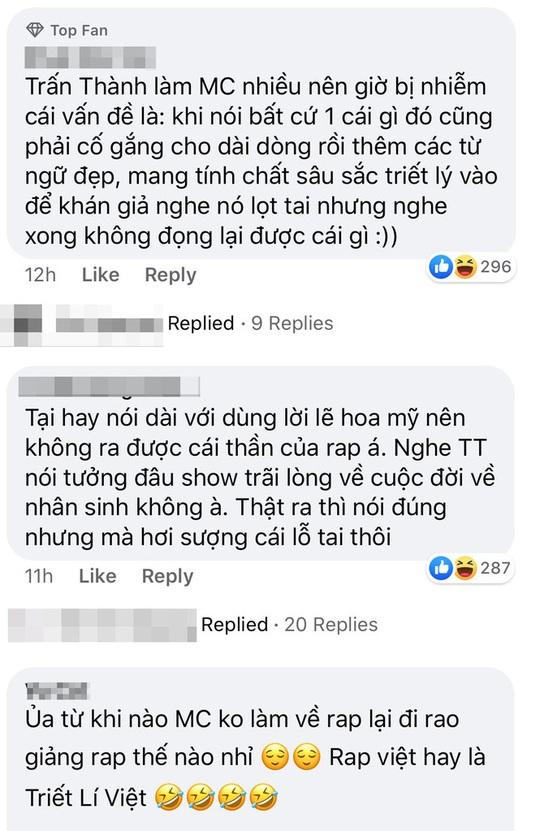 Trấn Thành lại gây tranh cãi ở Rap Việt - Ảnh 3.