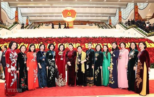 Các nữ đại biểu tham dự Đại hội XIII của Đảng - Ảnh 12.