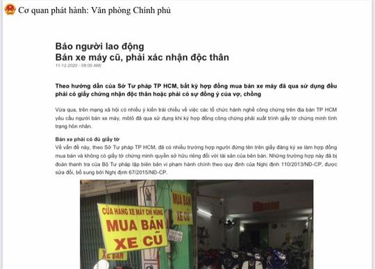 Thủ tướng yêu cầu UBND TP HCM xác minh nội dung Báo Người Lao Động phản ánh - Ảnh 1.