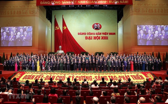 Ra mắt Ban Chấp hành Trung ương Đảng khóa XIII - Ảnh 1.