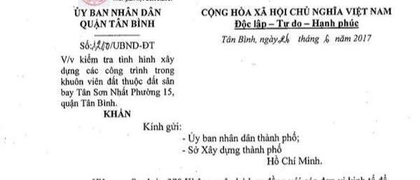 Nhiều công trình không phép trong khu sân bay Tân Sơn Nhất