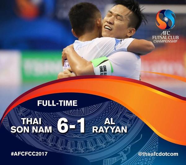 Ngược dòng ấn tượng, Thái Sơn Nam giành hạng 3 châu Á