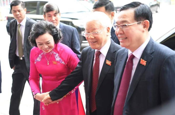Tổng Bí thư, Chủ tịch nước Nguyễn Phú Trọng dự và chỉ đạo Đại hội Đảng bộ TP Hà Nội XVII - Ảnh 7.