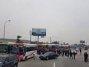 Gần trăm xe khách về Hà Nội phản đối điều chuyển luồng tuyến