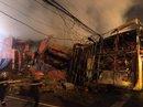 Siêu thị cháy dữ dội trong đêm mưa lớn do bão số 10