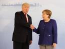 Tổng thống Donald Trump đã bắt tay bà Merkel