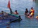 Chìm tàu câu mực chở 36 người, 1 người chết và 1 mất tích