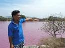 Tạm ngừng hoạt động một cơ sở xả thải xuống hồ nước màu tím