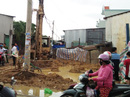Thi công cột điện, 2 công nhân bị điện giật thương vong