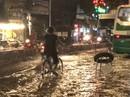 Không mưa, khu giàu nhất Sài Gòn vẫn lênh láng nước