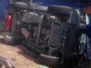 Điều tra vụ xe của Công an TPHCM lật, một trung tá tử vong