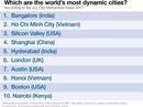 Hà Nội, TPHCM vào tốp 10 thành phố năng động nhất thế giới