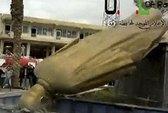 Quân nổi dậy Syria lật đổ tượng cha Tổng thống Assad
