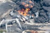 Tàu hỏa chở dầu trật bánh gây vụ nổ kinh hoàng