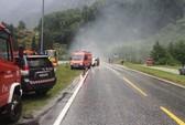 Na Uy: Xe tải cháy bít đường hầm, 75 người nhập viện