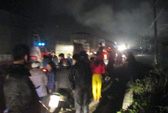 Nổ rồi cháy rụi cơ sở kinh doanh gas tối Noel