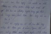 Cô giáo để lại thư tuyệt mệnh trước khi chết cùng 2 con