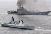 Tàu khu trục Anh kè sát tàu sân bay lớn nhất của Nga