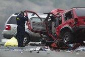 """Ô tô """"lạc"""" đường trên cao tốc, cả gia đình chết thảm"""