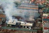 Xưởng gỗ gần 1.000 m2 cháy rụi
