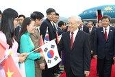 Tổng Bí thư Nguyễn Phú Trọng bắt đầu chuyến thăm Hàn Quốc