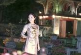 Độc đáo hoa hậu Ngọc Anh và áo dài khảm trai