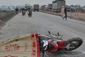 Một phụ nữ bị xe tải chở vật liệu xây dựng cán chết