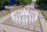Phong tỏa, rào chắn để thi công đường Nguyễn Huệ