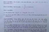 Đề thi, gợi ý giải đề môn toán khối B, D