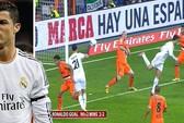 """Xem """"siêu phẩm"""" đánh gót siêu dị của Ronaldo"""