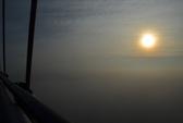 """Cầu Cần Thơ """"mất tích"""" trong sương"""