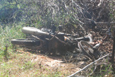 Một thi thể bị thiêu cháy cùng xe máy