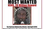 Kenya treo thưởng bắt kẻ chủ mưu vụ thảm sát