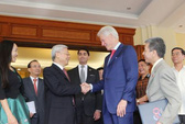 Tổng thống Obama đón Tổng Bí thư Nguyễn Phú Trọng tại Nhà Trắng