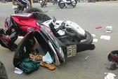 Xe máy tông nhau, một phụ nữ mang thai nhập viện