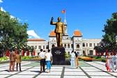 Rước tượng Bác về phố Nguyễn Huệ