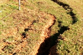 Tuyến đê ở Thanh Hóa xuất hiện vệt nứt lớn, nguy hiểm