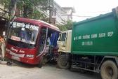 Xe chở rác gây tai nạn liên hoàn, 5 người thương vong