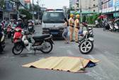 Xe buýt cuốn 2 chị em thương vong trên đường Nguyễn Kiệm