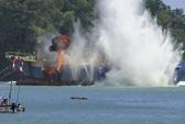 """Indonesia đánh chìm """"tàu ma"""""""