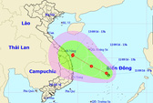 Áp thấp khả năng mạnh thành bão vào Khánh Hòa-Quảng Ngãi