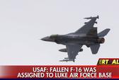 Mỹ: Rơi chiến đấu cơ F-16, phi công mất tích