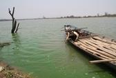 Hoảng hồn vì nước sông Ba bỗng chuyển màu xanh