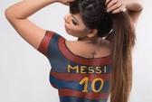 Hoa hậu vòng 3 khiến vợ Messi lo sốt vó